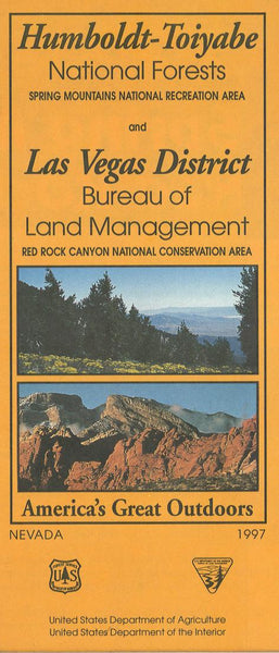 Cover of Humboldt-Toiyabe National Forest Map - Spring Mountain, Las Vegas Red Rock Canyon Map by U.S. Forest Service