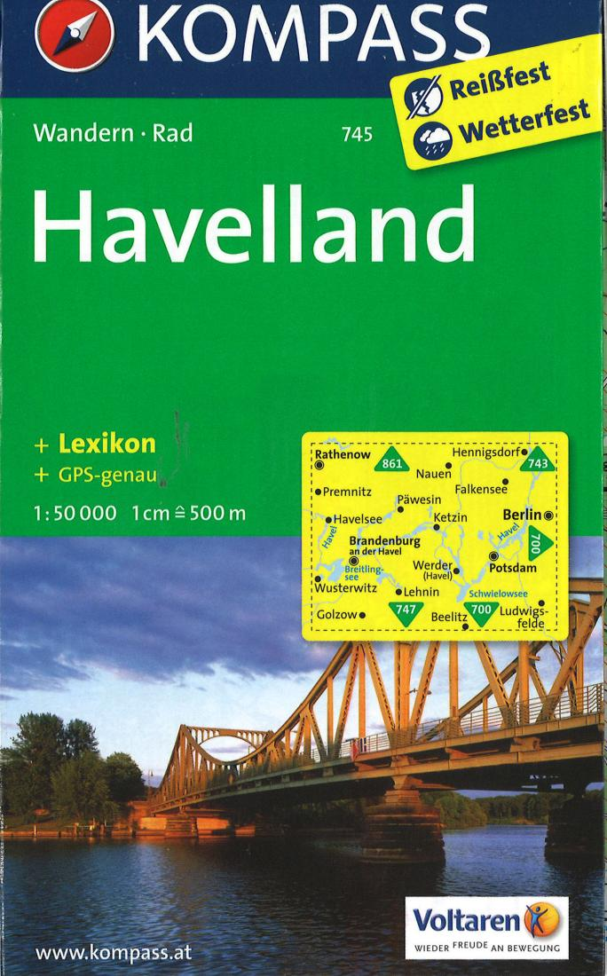 Cover of Havelland Hiking Map By Kompass
