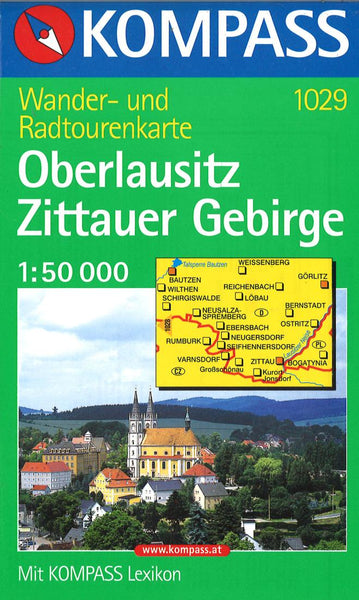 Cover of Oberlausitz Zittauer Gebirge Hiking Map By Kompass