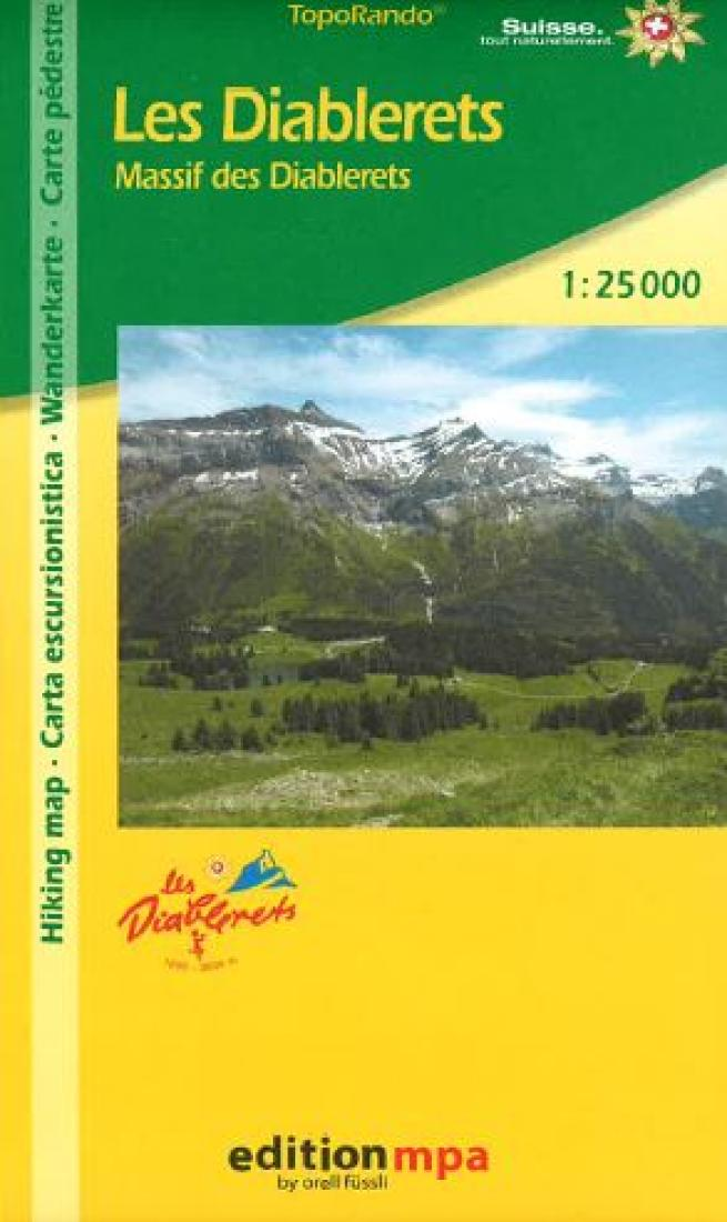 Cover of Les Diablerets, Topographical Hiking Map by Edition MPA by Orell Fussli