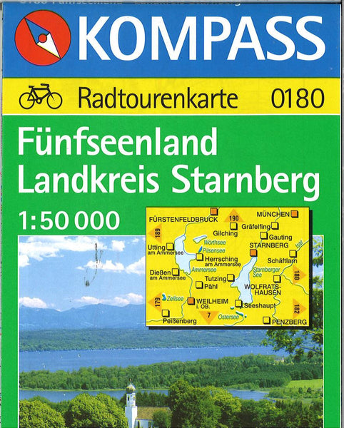 Cover of Funfseenland Landkreis Starnberg Hiking Map By Kompass