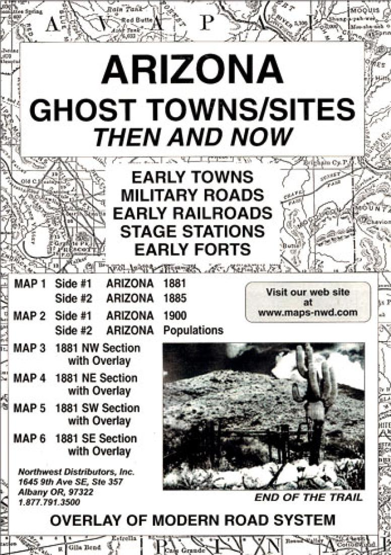 Cover of Arizona, Ghost Towns, 6-Map Set, Then and Now