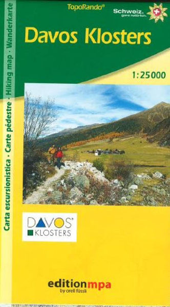 Cover of Davos Klosters, Topographical Hiking Map by Edition MPA by Orell Fussli