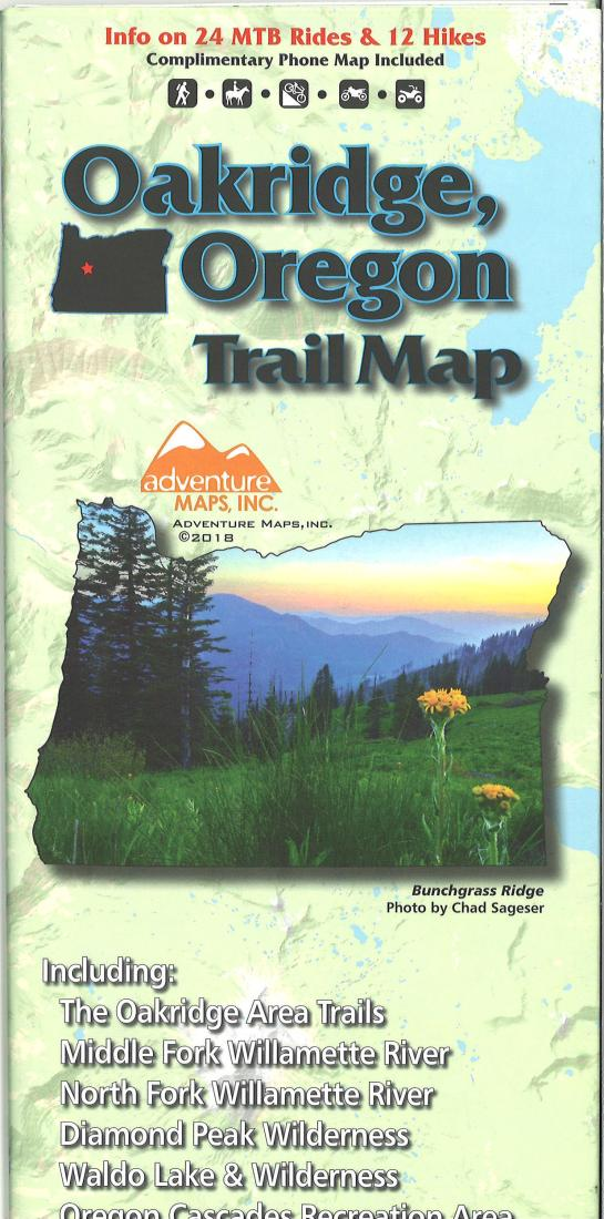 Cover of Oakridge, Oregon Trail Map by Adventure Maps