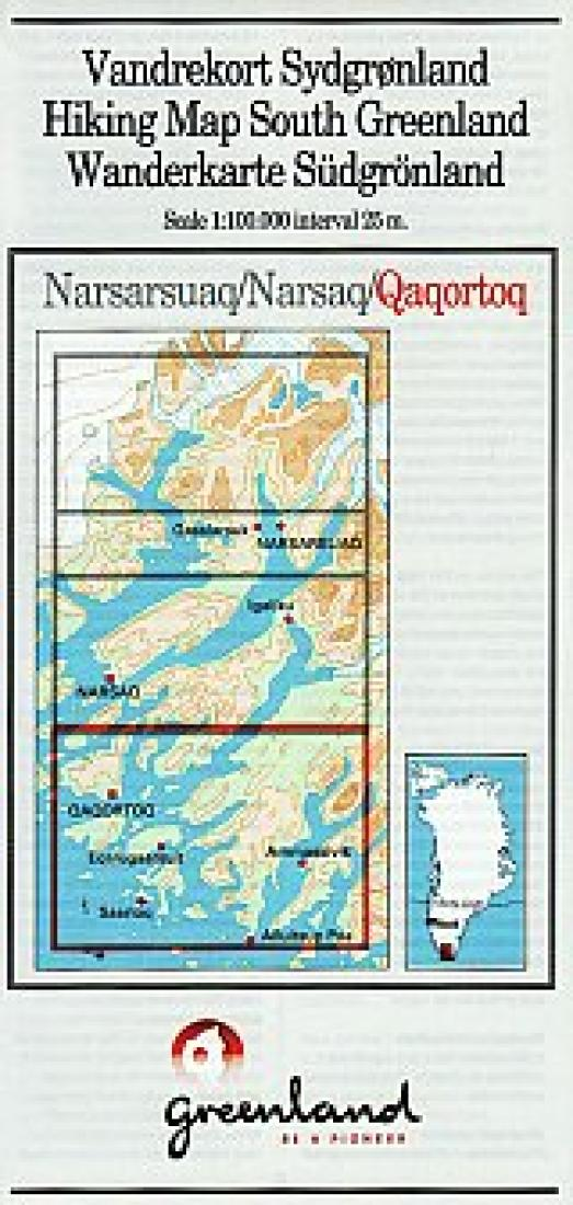 Cover of Qaqortoq Hiking Map by Greenland Tourism