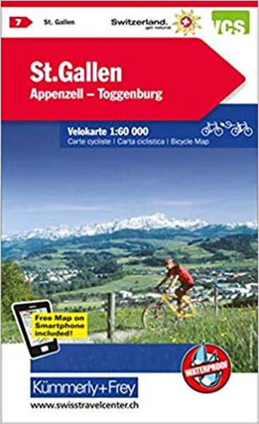 Cover of St Gallen, Appenzell, and Toggenburg Cycling Map by Kummerly + Frey