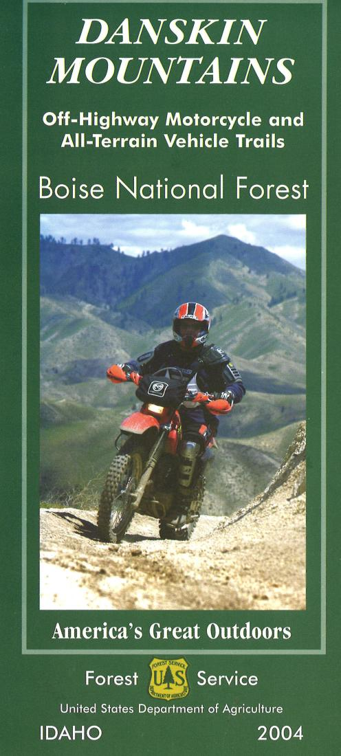 Cover of Danskin Mountains Off-Highway Vehicle Map by U.S. Forest Service