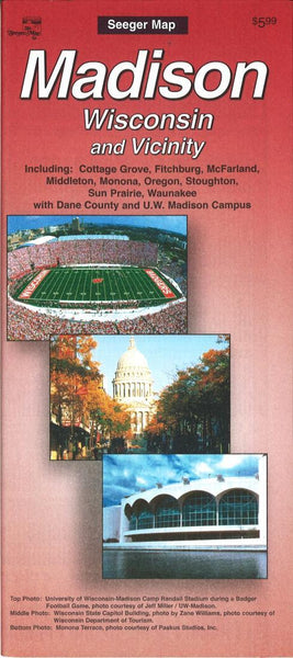 Cover of Madison, Wisconsin and vicinity by The Seeger Map Company Inc.