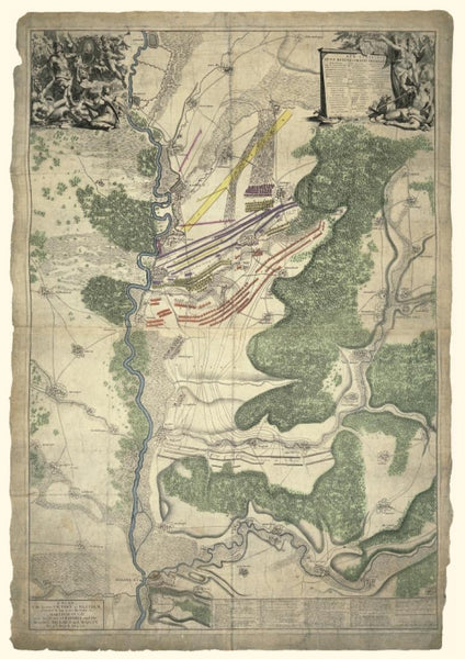 Cover of Map of the Battle of Blenheim 13 August 1704 by Oxford Cartographers