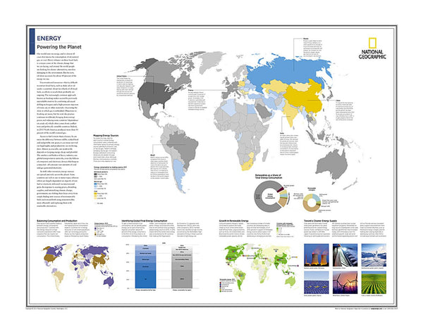 Cover of Energy: Powering the Planet - Map from National Geographic Atlas of the World 10th Edition
