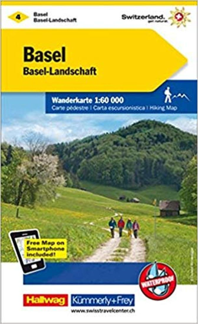 Cover of Basel - Aarau : Switzerland Hiking Map #4 by Kummerly + Frey