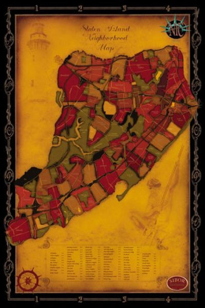 Cover of Staten Island Neighborhood Map by Big Stick