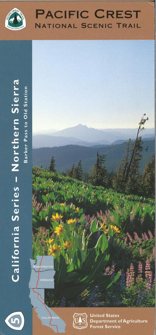 Cover of Pacific Crest Trail: Northern Sierra Nevada Map by U.S. Forest Service