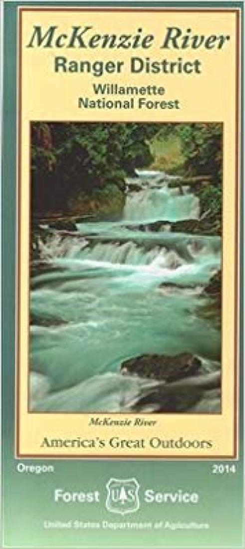 Cover of Williamette National Forest - McKenzie River Recreation Trail Map by U.S. Forest Service