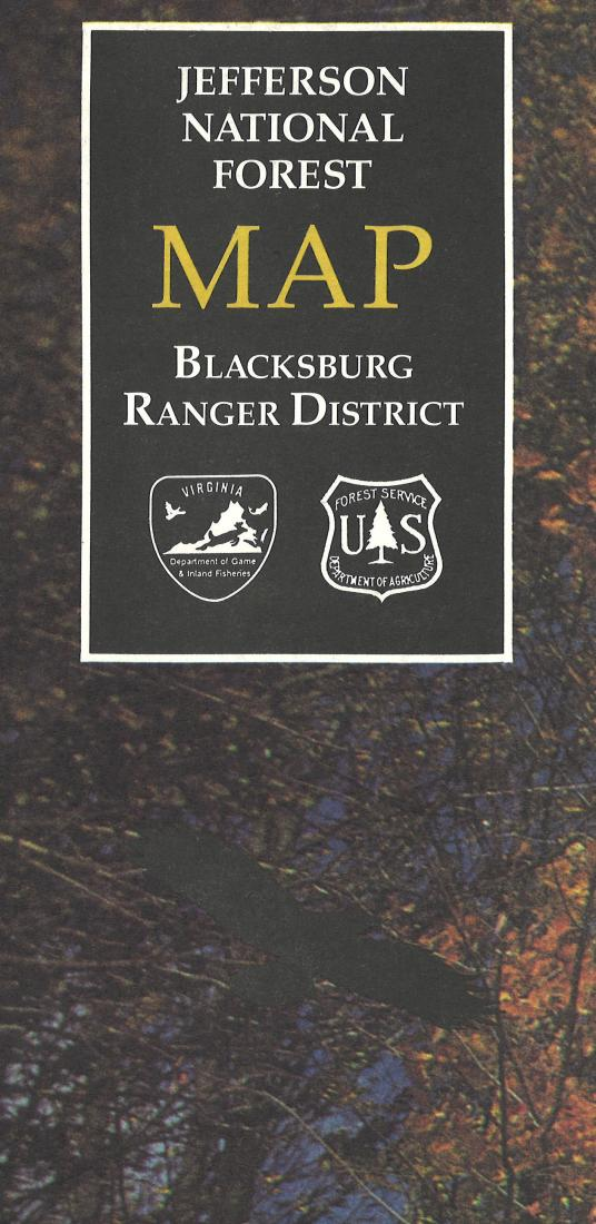 Cover of Jefferson National Forest: Blacksburg Ranger District Map by U.S. Forest Service