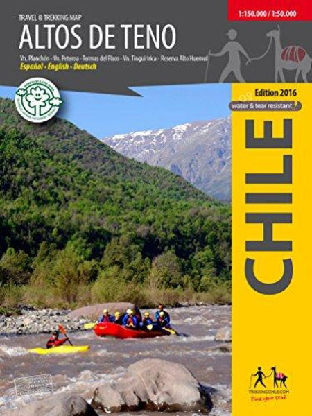 Cover of Altos de Teno - Travel and Trekking Map by Trekking Chile