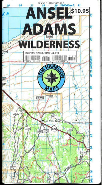 Cover of folded Map of Ansel Adams Wilderness, California by Tom Harrison Maps