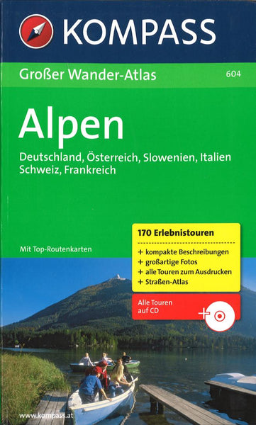 Cover of Hiking Atlas of the Alps Hiking Map By Kompass