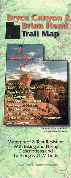 Cover of Bryce Canyon and Brian Head, Trail Map by Adventure Maps