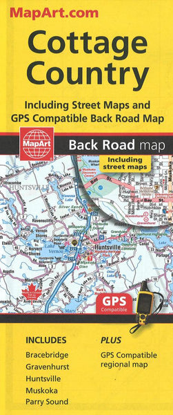 Cover of Muskoka, Huntsville, Cottage Country : Back Road Map