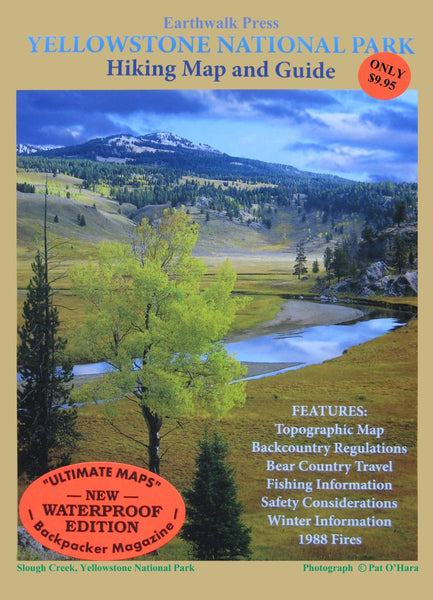 Cover of Yellowstone National Park, Wyoming and Montana Hiking Map & Guide