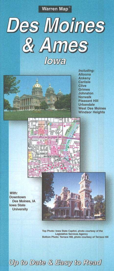 Cover of Des Moines & Ames, Iowa City Street Map by The Seeger Map Company Inc.