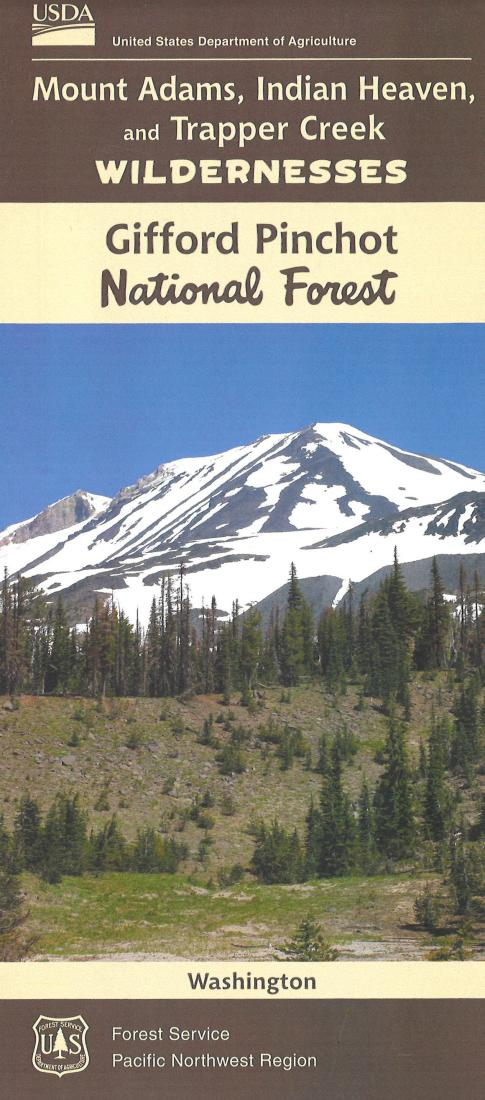 Cover of Mt. Adams, Indian Heaven & Trapper Creek Map, Gifford-Pinchot National Forest Map by U.S. Forest Service
