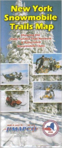 Cover of New York, Snowmobile Trails Map by Jimapco