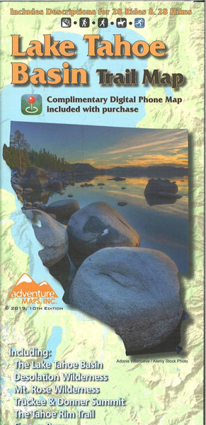 Cover of Lake Tahoe Basin Trail Map by Adventure Maps