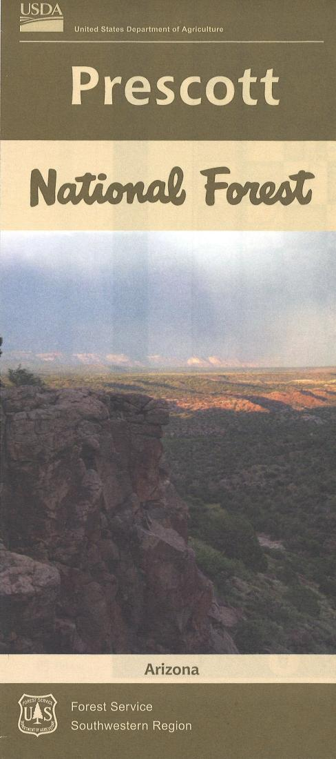 Cover of Prescott National Forest Map by U.S. Forest Service