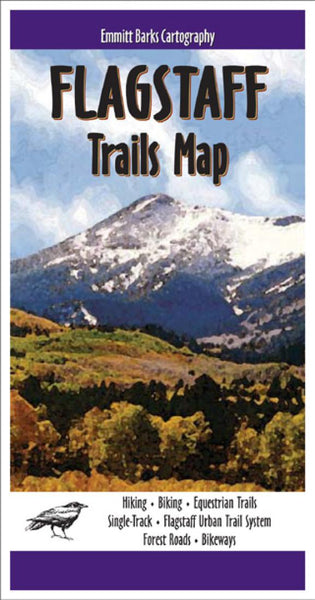 Cover of Flagstaff, Arizona, Trails Map by Emmitt Barks Cartography