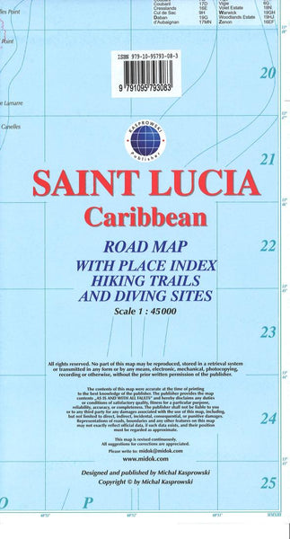 Cover of Saint Lucia, Caribbean, Road map