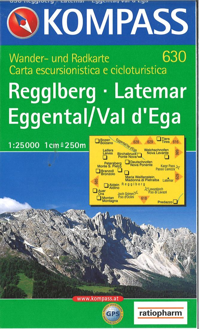Cover of Reggiberg - Latemar - Egental / Val d'Ega Hiking Map By Kompass