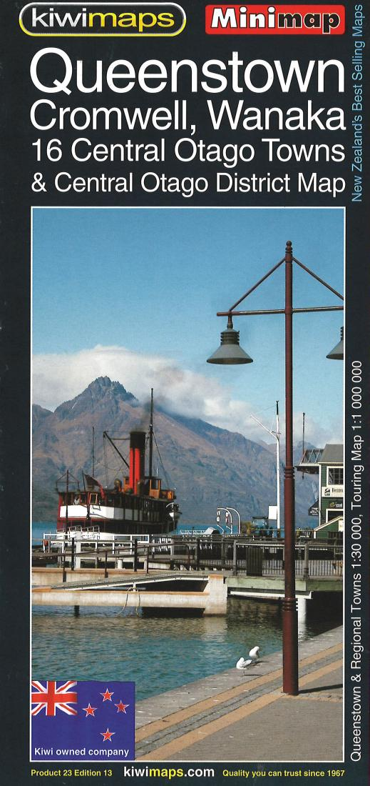 Cover of Queenstown and Central Otago Towns, New Zealand, Minimap