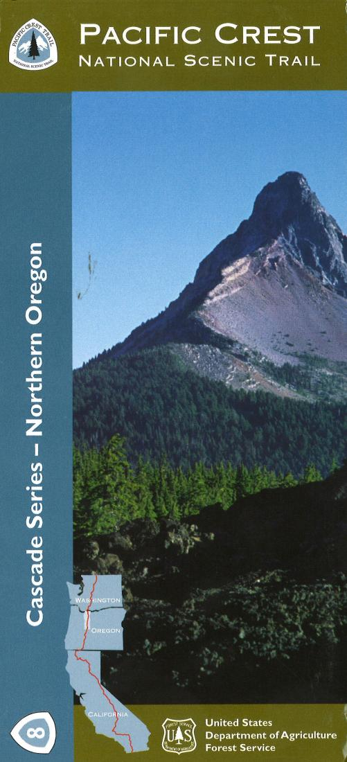 Cover of Northern Oregon Wilderness Area Map by U.S. Forest Service