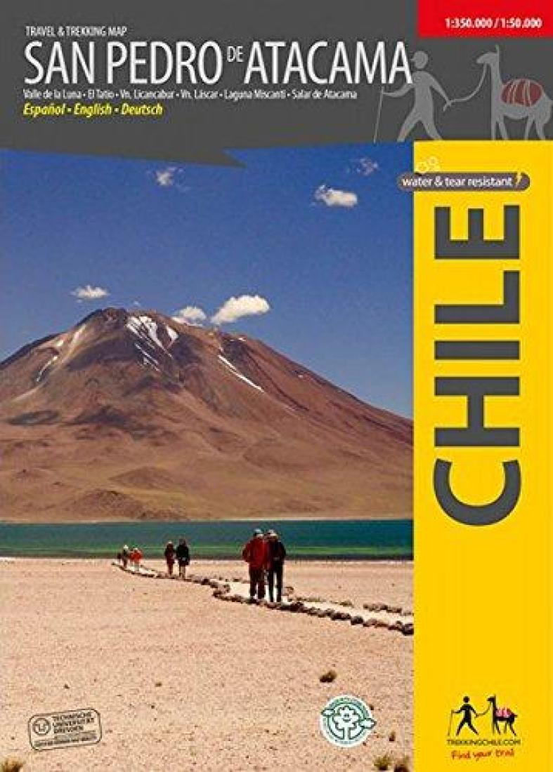 Cover of San Pedro de Atacama, Chile : Travel & Trekking Map by Trekking Chile