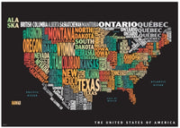 Cover of Graphic Map USA colours black background by Oxford Cartographers