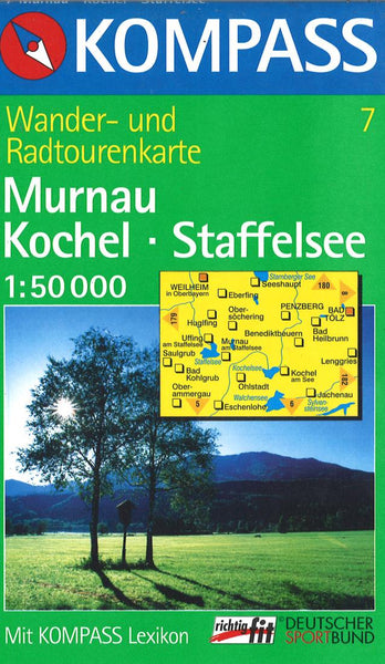 Cover of Murnau Kochel - Staffelsee Hiking Map By Kompass