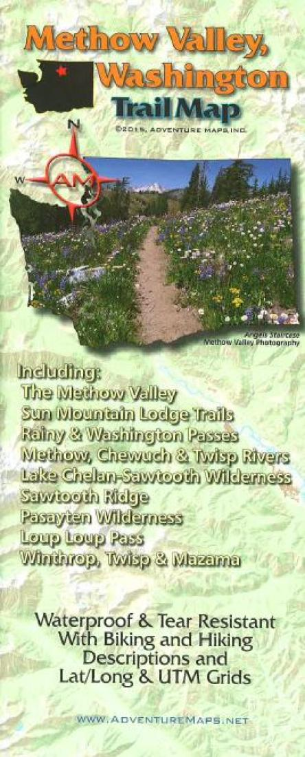 Cover of Methow Valley, WA, Trail Map by Adventure Maps