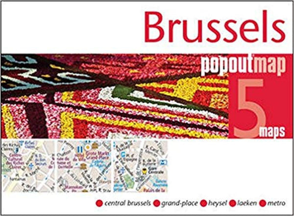 Cover of Brussels, Belgium, PopOut Map