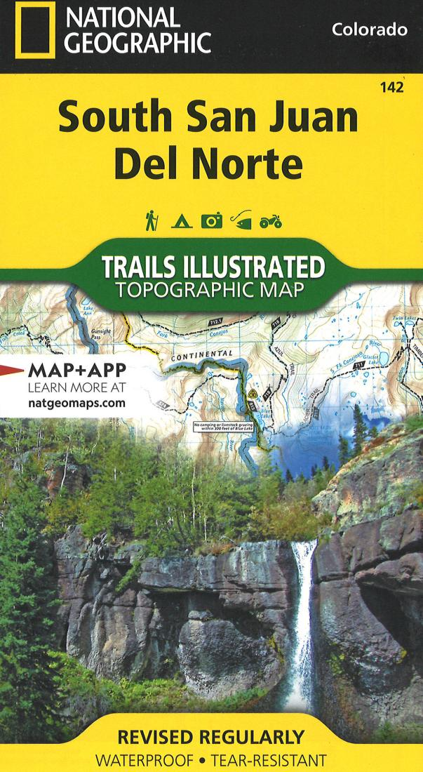 South San Juan & Del Norte Hiking Map Trails Illustrated #142 by National Geographic