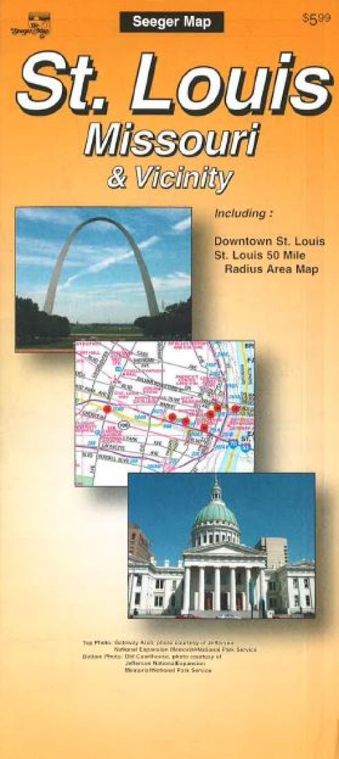 Cover of St. Louis, Missouri and Vicinity by The Seeger Map Company Inc.