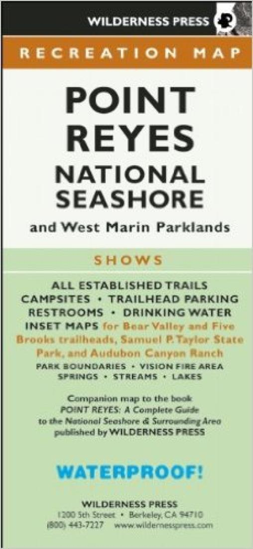 Cover of Point Reyes National Seashore, California Recreation Map by Wilderness Press