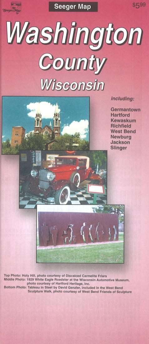 Cover of Washington County, Wisconsin by The Seeger Map Company Inc.