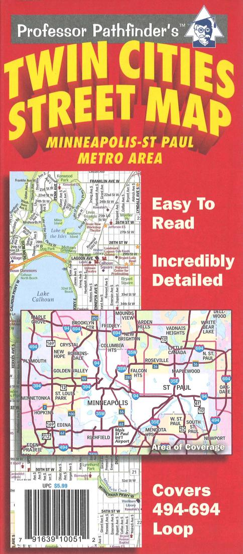 Cover of Twin Cities, Minnesota (494/694 loop) by Hedberg Maps