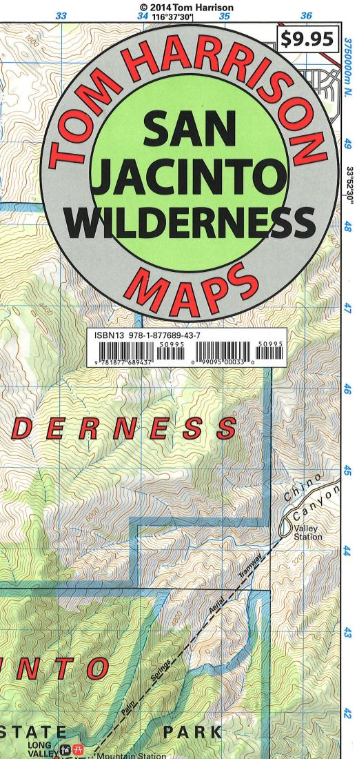 Cover of folded Map of San Jacinto Wilderness, California by Tom Harrison Maps