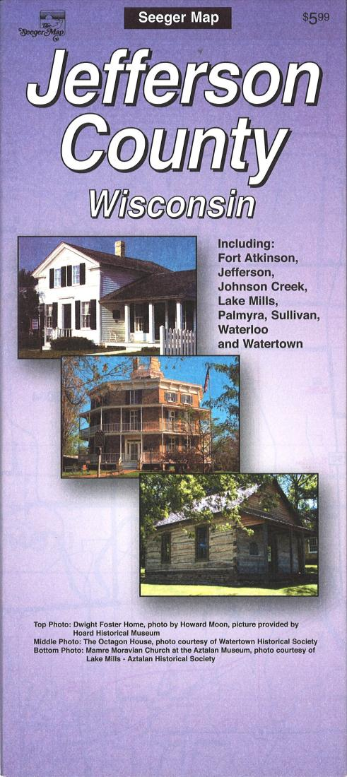 Cover of Jefferson County, Wisconsin by The Seeger Map Company Inc.