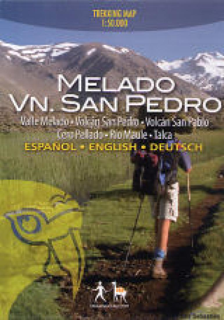 Cover of Melado Vn. San Pedro Travel & Trekking Map by Trekking Chile