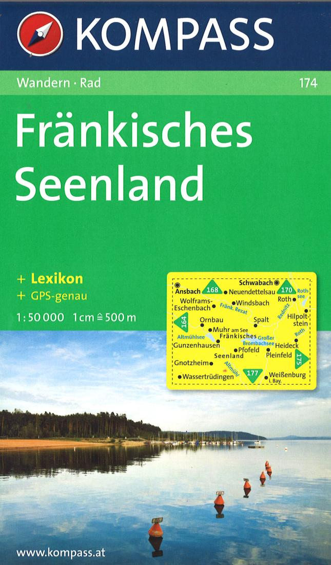 Cover of Frankisches Seenland, Neues Hiking Map By Kompass