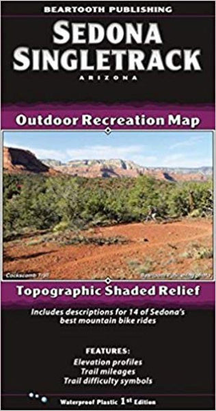 Cover of Sedona Singletrack, AZ Outdoor Recreation Map with Topographic Shaded Relief by Beartooth Publishing